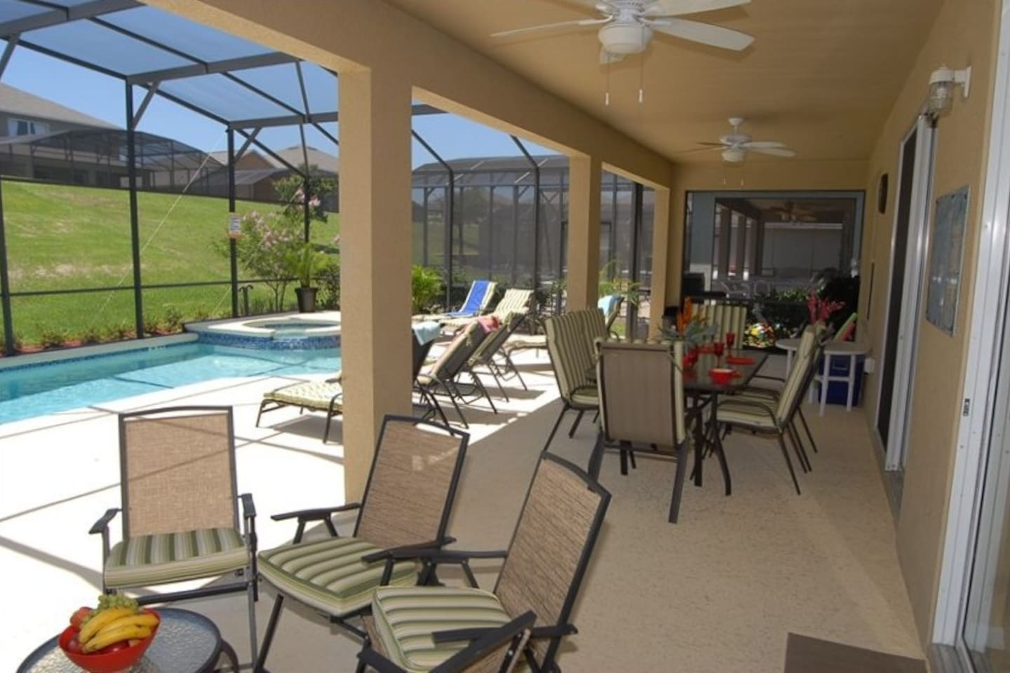 Plenty of Space to relax at the Porch by the pool