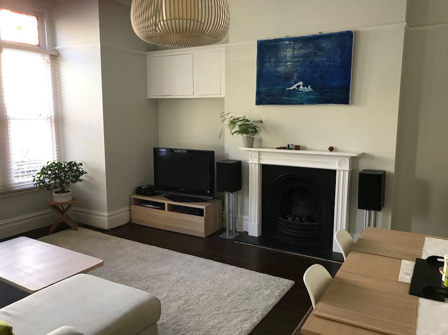 Living room - TV available with Amazon prime and Xbox one