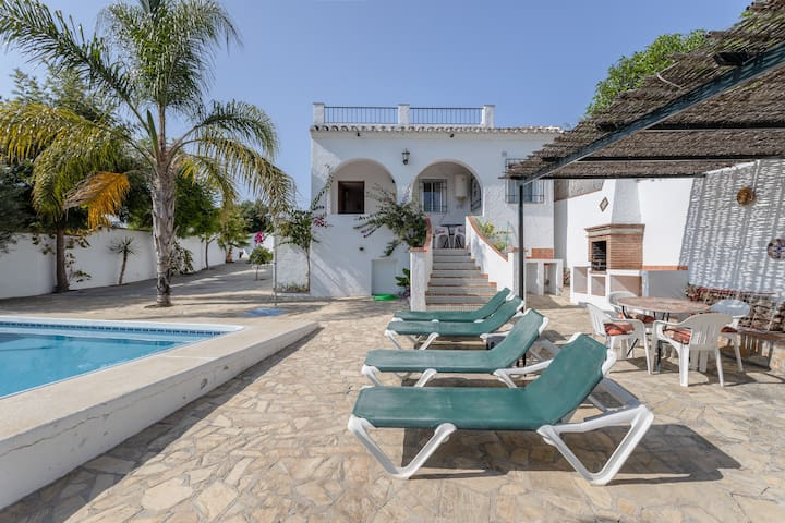 Charming Vacation Home Cortijo Encarni with Sea View, Mountain View, Wi-Fi, Garden & Terrace, Air Conditioning; Parking Available; Pets Allowed