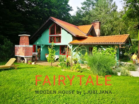 Fairy tale wooden house by Ljubljana-Matjazeva pon