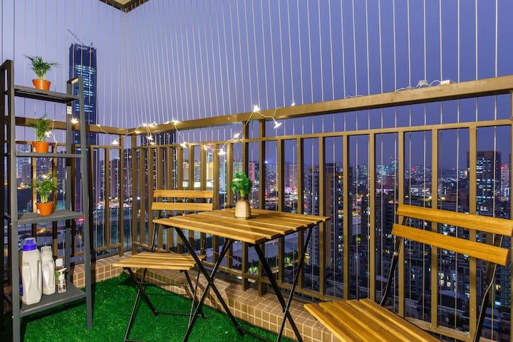 Tjena·随寓|地铁五号线潭村C出口|珠江新城顶级商圈|美领馆|琶洲会展中心|温馨公寓|免费停车