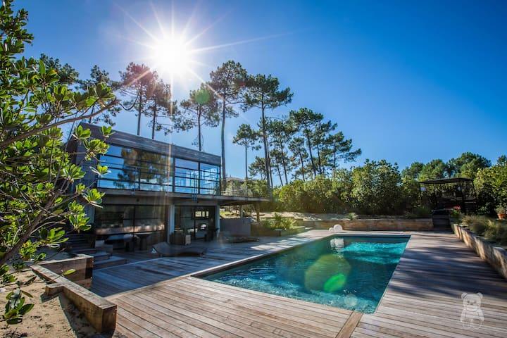 Villa Au Cap Ferret Avec Piscine - Villas À Louer À Lège-Cap-Ferret