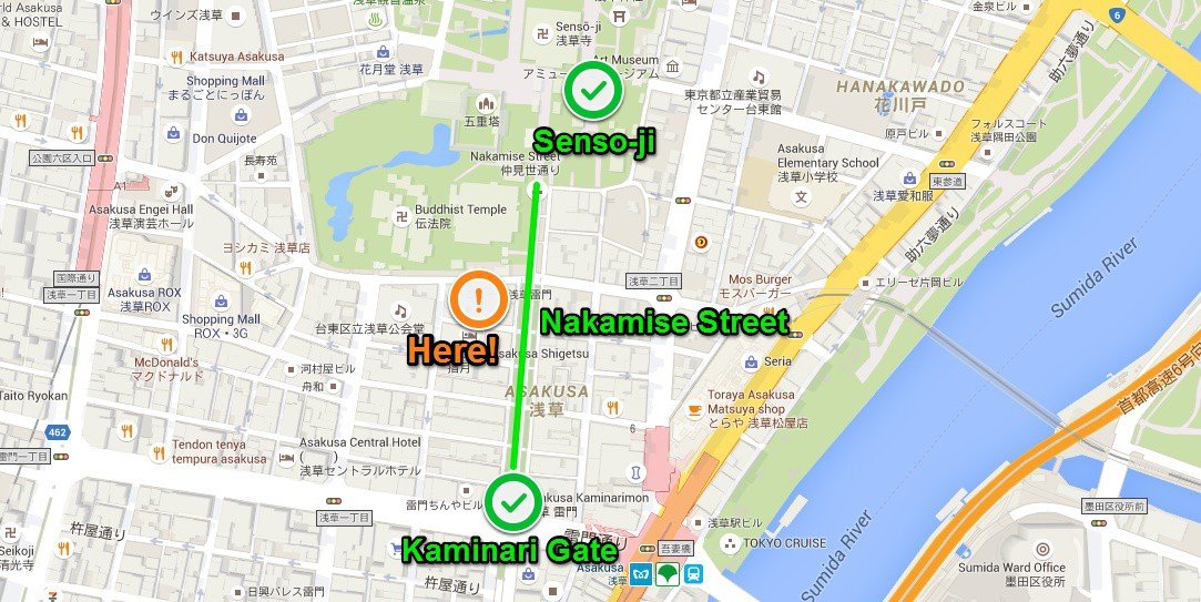 Great Location 1min to Asakusa Sensoji TokyoA11 Flats for Rent