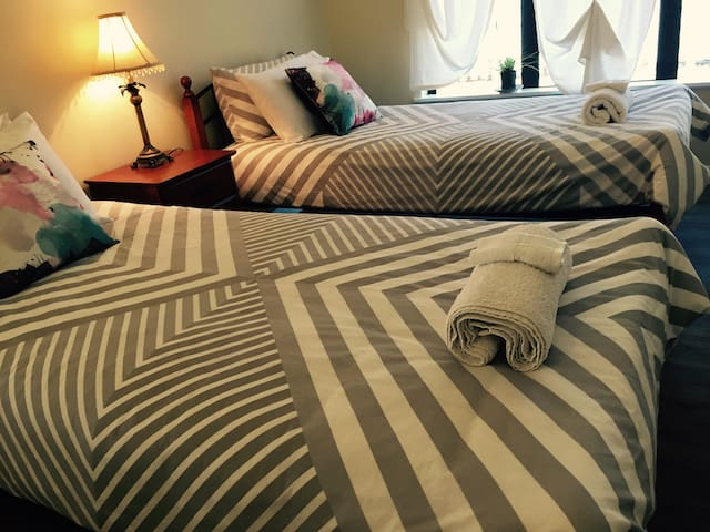 This is the two single bedroom which the two beds can be combined as a super king size bed
