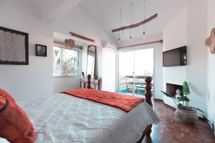 B&B FRENTE AL MAR - Habitacion en suite. SIKEREI