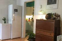 The apartment have a fridge and a freezer you are welcome to use