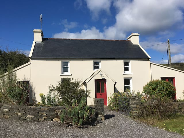Farmhouse on the hill near Skibbereen with cat!