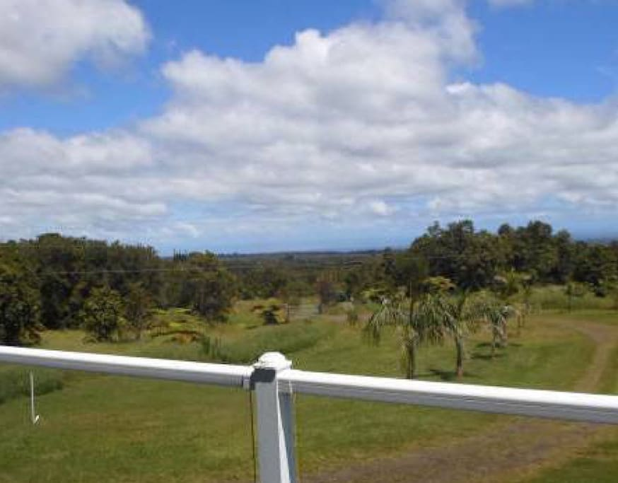 View from the 100 foot long Lanai - Great place to do Yoga and Qi Gong