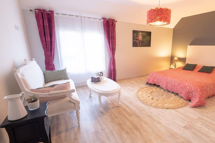 Floréal  - The romantic: 1 double bed of 160 cm