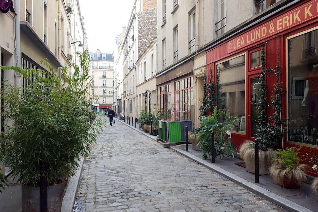 Our quiet cobblestoned street