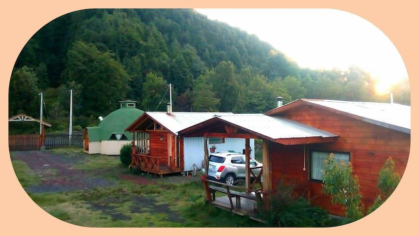 cabañas 1 altas cumbre a minutos de termas vergara