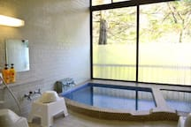 Mineral spring hot water.