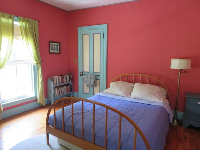 Red Room at River Dreams, on the Delaware river