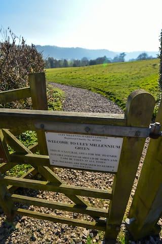 Walking onto Uley Millennium Green