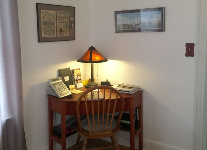 Desk with charging station
