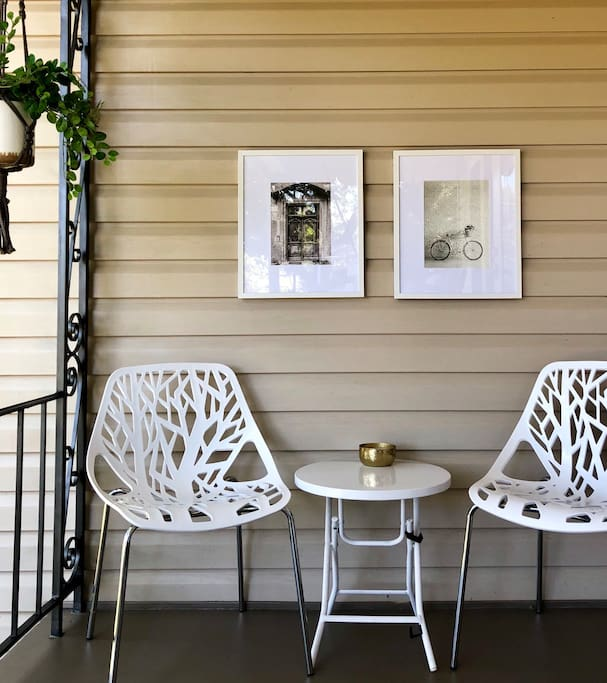 We recently improved our porch to make it more inviting and fun.