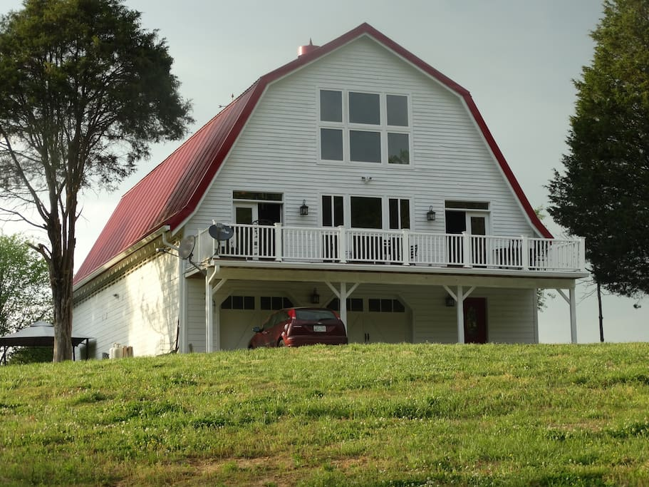 A hay barn built in the 1940's is our home in a remote setting on over 50 acres.