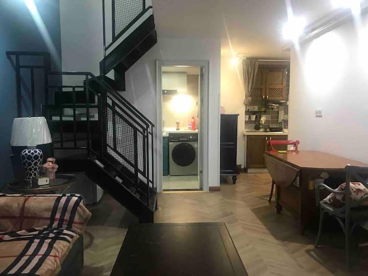 南滨美筑-长嘉汇SOHO温馨私享LOFT双层公寓民宿