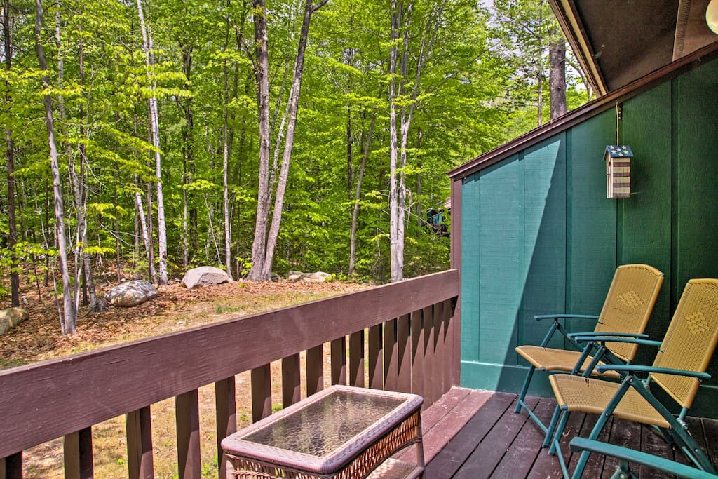 This townhome is peacefully situated within lush National Forest.