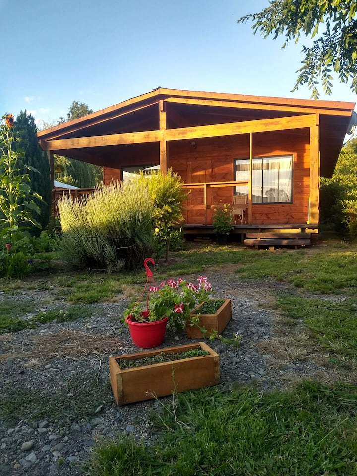 Cabaña en caburgua, un espacio  familiar...