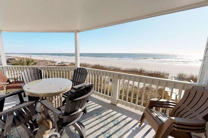 The Beach is Right Off Your Balcony! First Floor 3BR at Lighthouse II