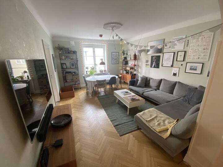 Big apartment in calm and hip neighborhood!