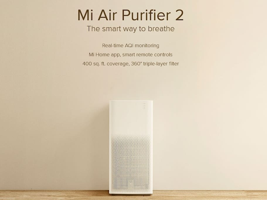 Xiao Mi Air Purifier 2 - state of the art filter to make sure the air quality in the apartment stays in the healthy range no matter what the AQI outside is.
