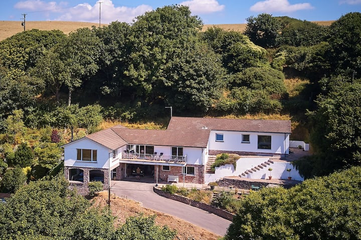 Our home near Salcombe,  close to the beach.