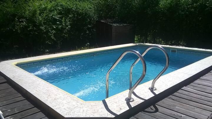 Monoambiente para 4 personas con piscina privada