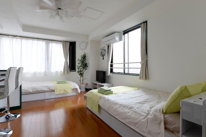 Kameido sta 3 min / Direct to Akihabara Free wifi - Kōtō-ku - Apartment