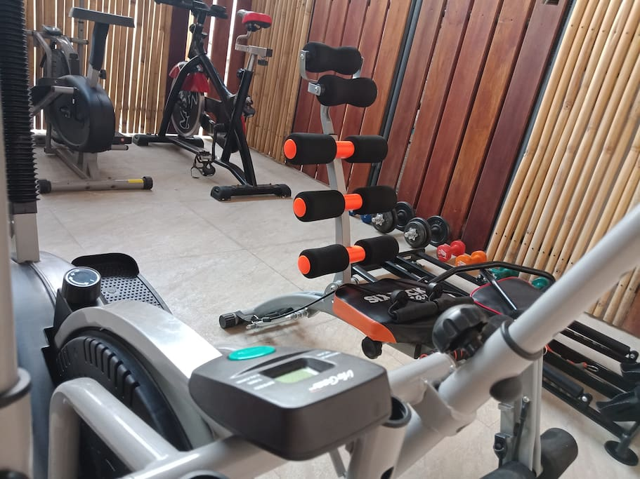 Gym Exercise under roof
