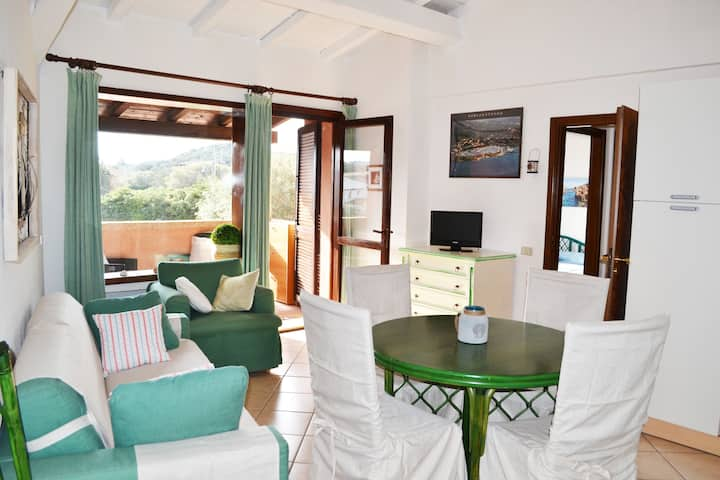 Porto Rotondo Marine theme central apartment