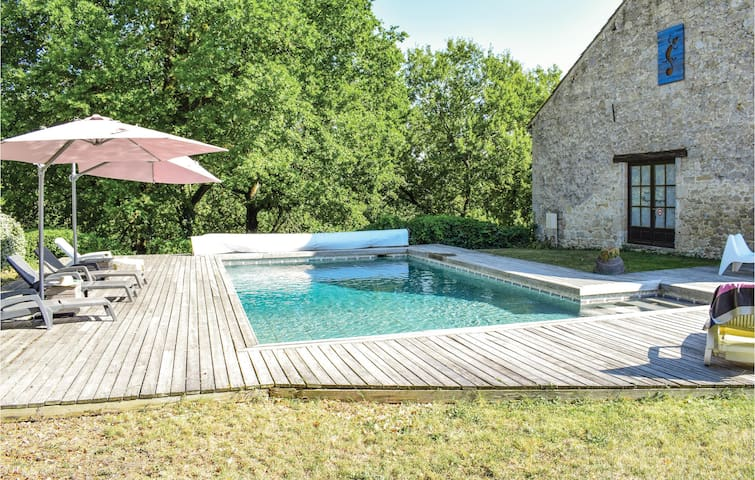 Beautiful home in Sembas with Outdoor swimming pool and 1 Bedrooms