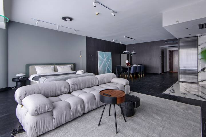 「黑白灰」  可聚会/可拍摄/国贸CBD 近金台夕照百平米一居室高档公寓