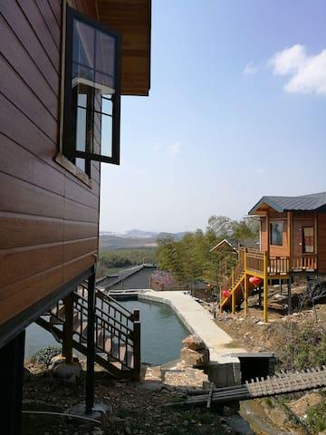 座落在龙池山自行车公园,特色半山木屋,被各大景区环绕,用水均是山泉水。 - Wuxi - Cabin