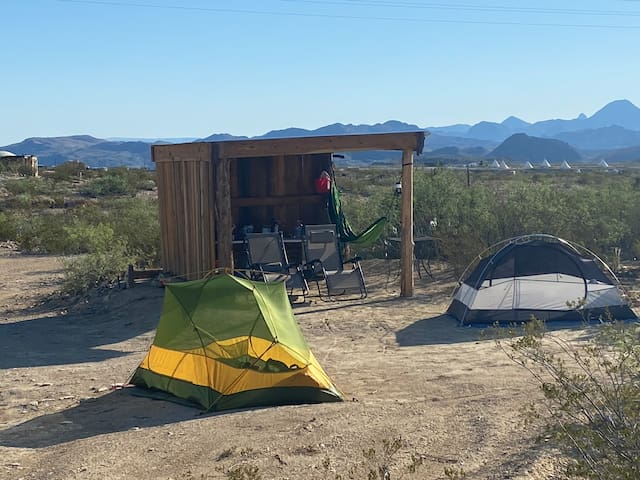 Sheltered camping in the Terlingua Ghost Town!