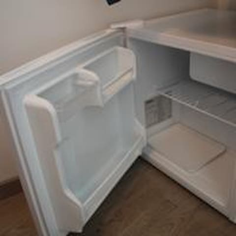 A private fridge in the room