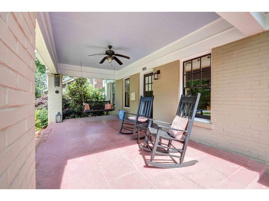Relax on the spacious front porch!
