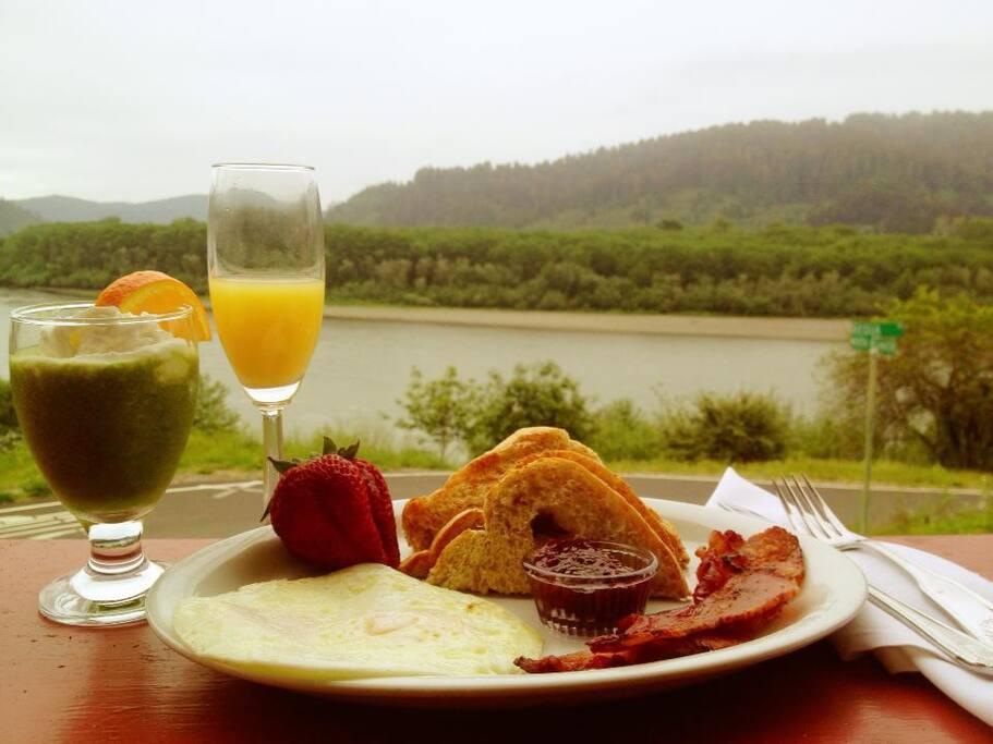 Join us for breakfast at the Requa Inn