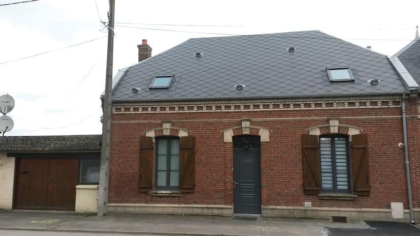 Maison de campagne style bourgeois - Domart-sur-la-Luce - Huis