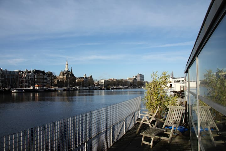 Modern Houseboat on the famous Amstel River! - Amsterdam - Byt