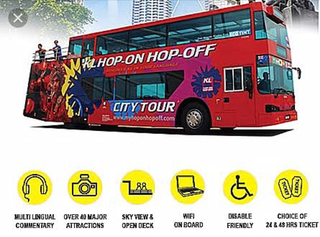Hop On And Off KL City Tour(Ticket Kiosk 500m) The best and easiest way to explore KL.