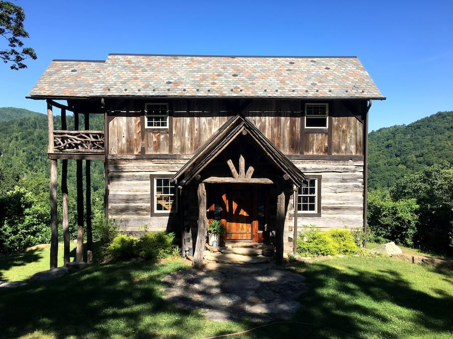 Our home is made out of two antique log cabins, four barns, and a smokehouse. Over 90% reclaimed materials.