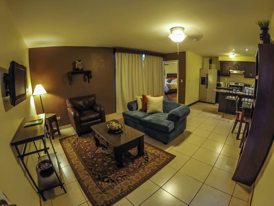 Apartamento 1 Habitación, Sala, Cocina, Baño privado.