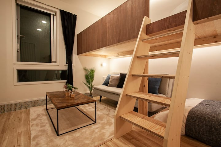 Great loc in Yokohama!/Suitable for sightseeing&Shopping/220m from JR sta/Max4ppl/WIFI/R1