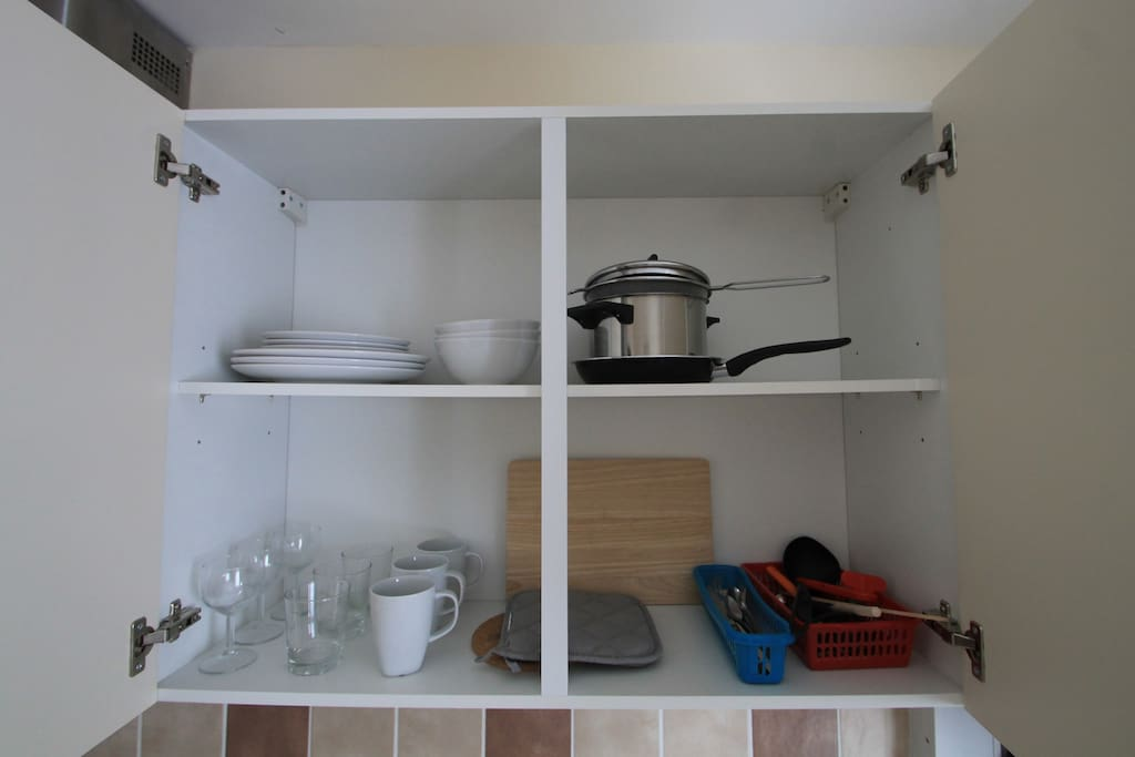 Your own cupboards and your own fridge