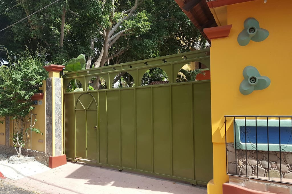 Front Gate Entrance to Compound