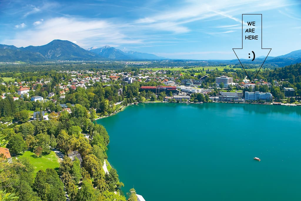 Best location - right in the center of everything! Nature, Lake, Bars, Restaurants & Shops.