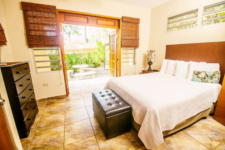 Queen Master Suite has Private Bath and additional Sitting Room with TV