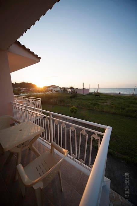 Amazing balcony with beach view
